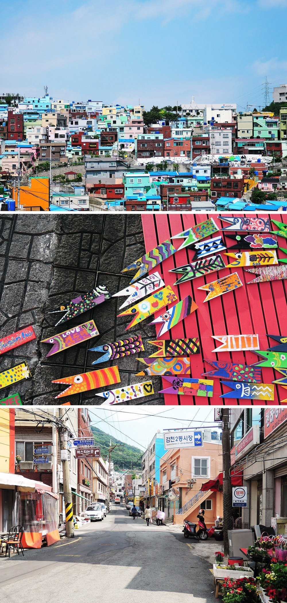 Visit Gamcheon Cultural Village, Busan's artsy district filled with colorful houses, art shops, and cafés with fantastic views. It's every artsy traveler's dream come true! Click through for a detailed guide on how to visit Busan in 3 days.